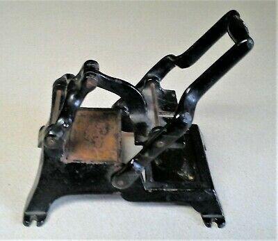 Small Antique Cast Iron Business Calling Card Printing Press