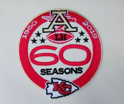 """Kansas City Chiefs 60th Seasons Embroidered 3.5"""" Iron On Patch"""