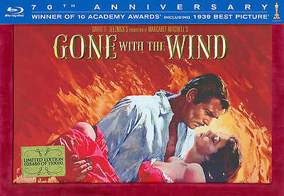 GONE WITH THE WIND 70th ANNIVERSARY COLLECTORS EDITION (BLU-RAY) FREE SHIPPING!