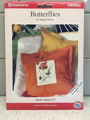 Husqvarna Viking Embroidery Pattern #47 - Butterflies - CD