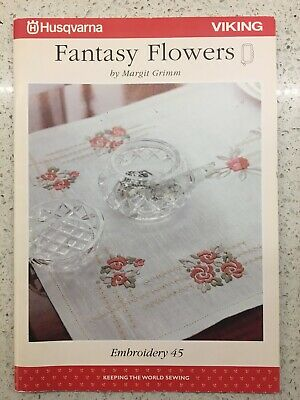 Husqvarna Viking Embroidery Pattern #45 - Fantasy Flowers - CD & Disc