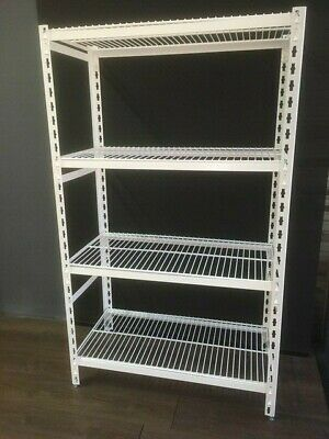 Coolroom Antimicrobial Powder Coated Shelving with Wire Shelves 2200H x 600W