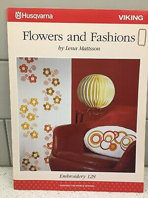 Husqvarna Viking Embroidery Pattern #128 - Flowers & Fashions - CD & Disc