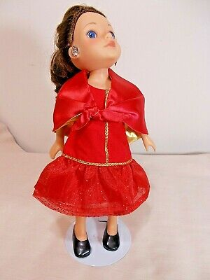 Doll   Pretty Dress ,Cape ,Shoes Fit American Girl 14.5 In.Wellie Wisher Dills