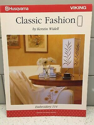 Husqvarna Viking Embroidery Pattern #114 - Classic Fashion - CD & Disc