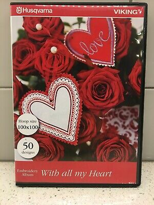 Husqvarna Viking Embroidery Mini Collection #269 - With All My Heart - CD