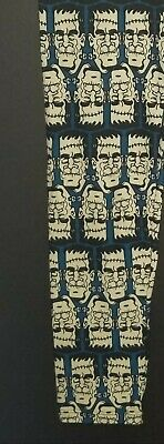 Vintage LuLaRoe Frankenstein Halloween OS Leggings LLR Blue/Cream