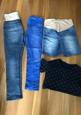 maternity clothes size 10/12 Jeans , Shorts And Top In Excellent Condition