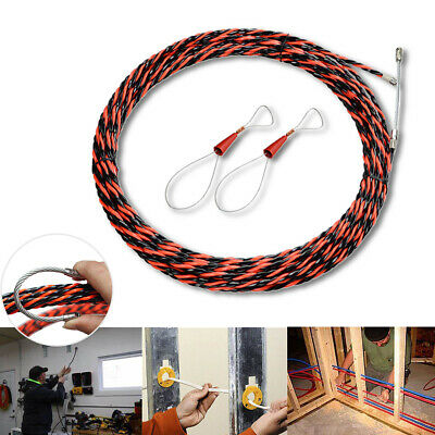With Cable Tensioner Fish Tape Set Durable Guide Device Push Puller Snake Spiral