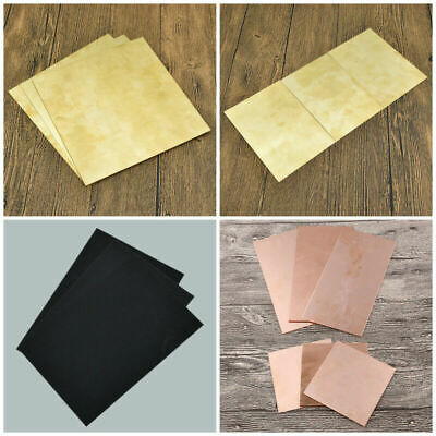 1Pc 0.5-2mm Copper Sheet Plate ABS Cut Model Making Craft Board Plate Supply