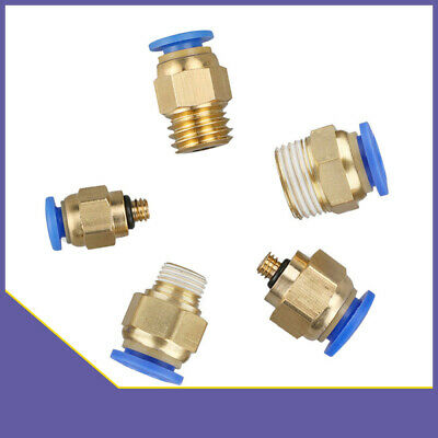 Pneumatic BSP Male Stud Push Fit Push In Fitting Connector for Air Water Tube
