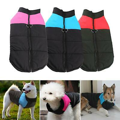 Waterproof Warm Winter Dog Coats Clothes Dog Padded Vest Pet Jacket Small/Large