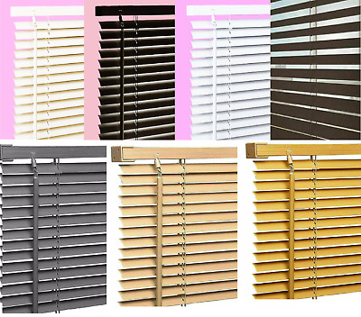 PVC Venetian Blinds Window Trim-able Blind Curtains Privacy Shutter All Sizes