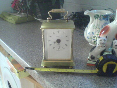 'TEMPORA' 400 DAY MANTLE CLOCK - MARBLE ONYX & BRASS with HERMLE QUARTZ MECH.
