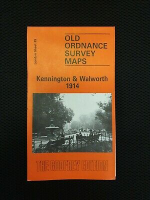 Old Ordnance Survey Maps Kennington & Walworth London 1914