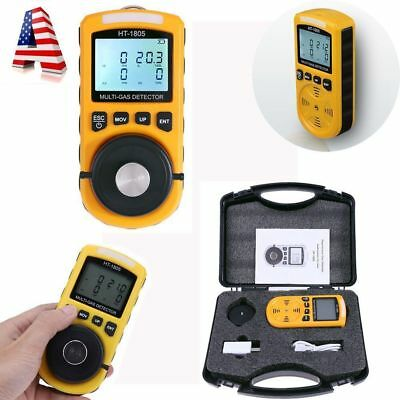 4 in 1 Gas Detector CO O2 H2S Oxygen LEL Gas Monitor Testing Analyzer Meter 0.1%