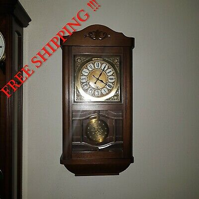 0267 - German Hermle  Ave Maria and Westminster chime wall clock