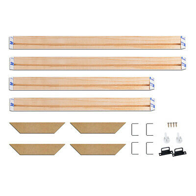 Natural Wood Frame For Canvas Painting Wall Picture Wrapped DIY Stretcher Bar E