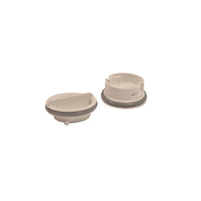 GENUINE Dishwasher Rinse Aid Caps Pack Of 2 C00051755 For Hotpoint Indesit Creda