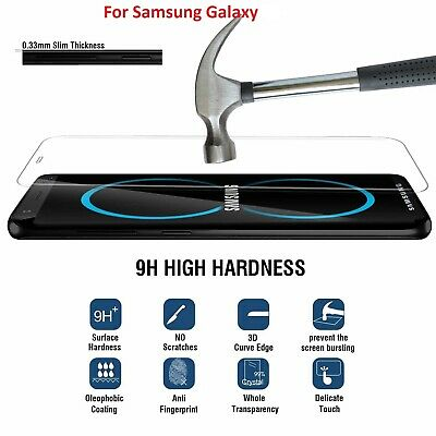 Genuine Tempered Glass Screen Protector film for Samsung Galaxy S8 S9PLUS S10