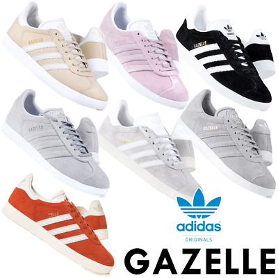 Adidas Originals Womens Gazelle Trainers Lace up Suede Casual Shoes
