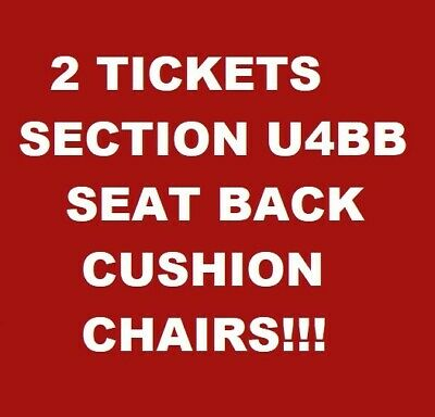 (2) Alabama Vs Arkansas Football Tickets - Sideline Sec. U4Bb Seat Back Chairs