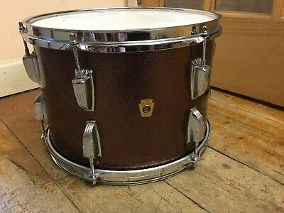 "Vintage LUDWIG 13"" x 9""1960's Tom Burgundy Sparkle Keystone badge"