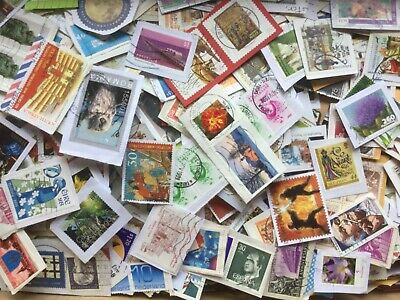 1Kg World Stamp Mixture/Kiloware On Paper. Great Lot For Sorting # 1