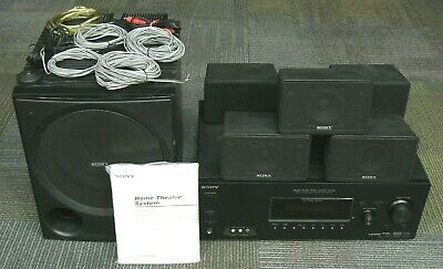 Sony Home Theater Receiver & 5.1 Speaker System, Cables & Mic, HT-DDW995, HDMI