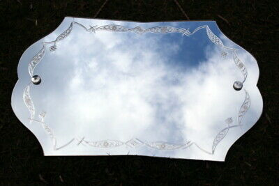 Luxury Antique French Vintage Wall Mirror 1920-1930 Frame Less Mantle G8 Cond