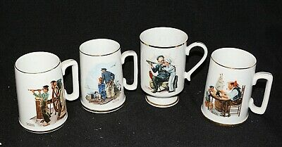 Norman Rockwell Collection Maritime Coffee Mugs/Cups (Set Of 4)