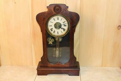 Early F. Kroeber Walnut 8 Day Parlor Clock