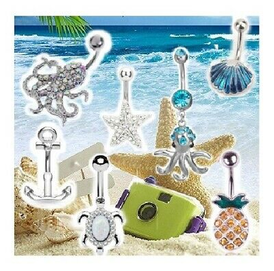 HOLIDAY Belly Bars BEACH SAND SEA COCKTAILS SHELLS MERMAID Belly Bar UK SELLERS