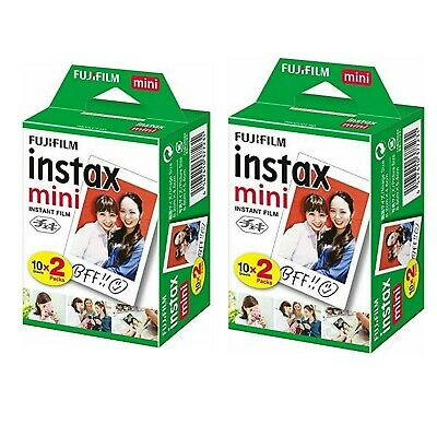 Fujifilm Instax Mini (Two Pack) 40 Shots Instant Film Expire 12/2020- A2