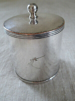 Antique Barker Bros. Silver on Copper Silver Plate Tea Caddy Canister England