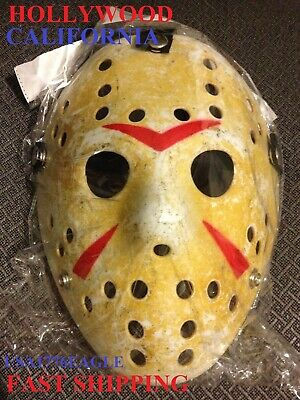 Adult Size Halloween Hockey Mask Movie Prop Voorhees Jason Style Friday The 13Th