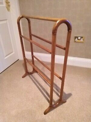 Antique Mahogany Towel Stand Drying Rack