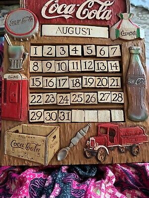 1998 Coca-Cola Co. Perpetual Calendar All Tiles Plates Complete Limited Edition
