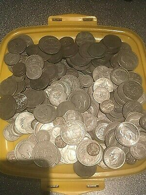 1,617 grams of British pre 1947 .500 silver  coins, scrap or collect.