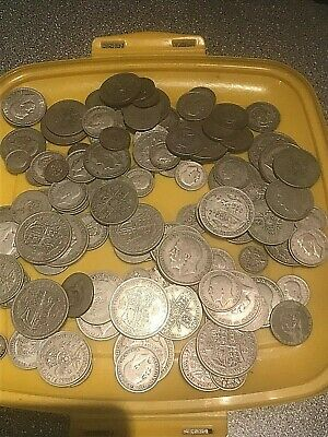 800 grams of British pre 1947 .500 silver  coins, scrap or collect.