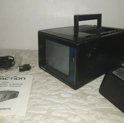 Action Color Portable TV  Monitor Model No: ACN-9030 Miniature Television + Cord