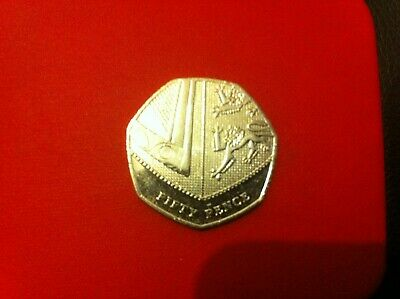 2017 Shield Of Royal Arms Rare 50p Low Mintage Excellent Condition
