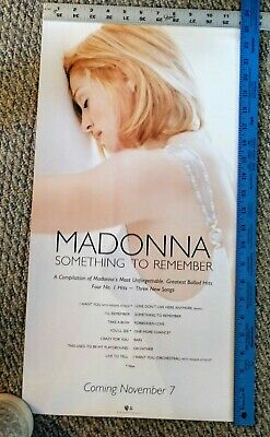 Madonna  Promotional Poster  Something To Remember