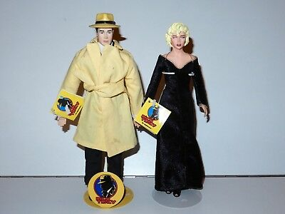 """Dick Tracy & Breathless Mahoney 10"""" Dolls & Stands 1990 Applause Madonna"""
