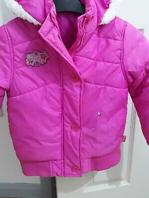 Girls Winter Coat ski jacket Age 5-6 years old pink padded bubble jacket hood