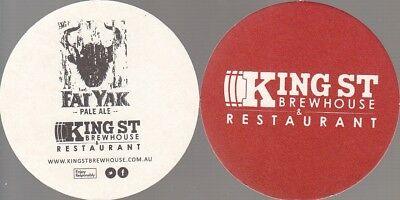 Fat Yak Kings St Brewhouse - Red Round Coaster - Beer Mat