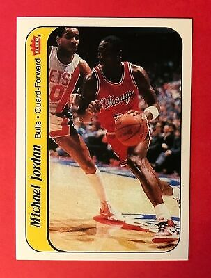Michael Jordan 1986-87 Fleer Rookie Sticker #6 - Reprint Basketball Card - Bulls