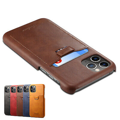 iPhone 11/Pro/Max RFID Blocking Case Luxury Leather Wallet Card Slot Slim Cover