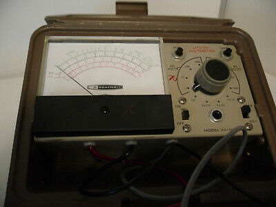 Vintage Heathkit UTILITY solid state VOLTMETER IM-17 antique tester TESTED