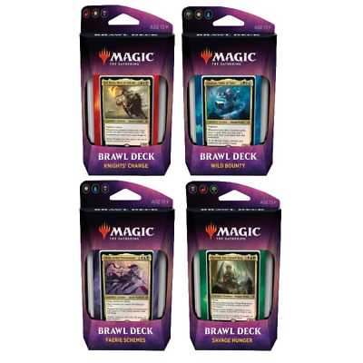 MTG Brawl Deck Set of 4 Throne of Eldraine Magic the Gathering Sealed New!!!